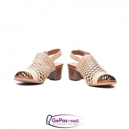 Sandale dama, piele naturala, O9030 03-N bej4