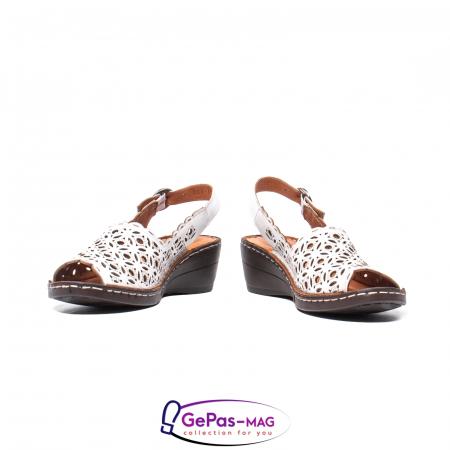 Sandale dama, piele naturala, O9409 Alb4