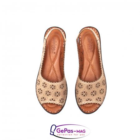 Sandale dama, piele naturala, O9409 bej5