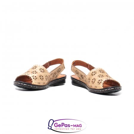 Sandale dama, piele naturala, O9409 bej4