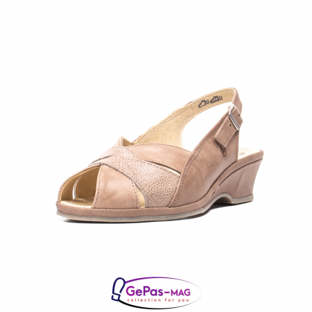 Sandale dama, piele naturala, SU0111 taupe