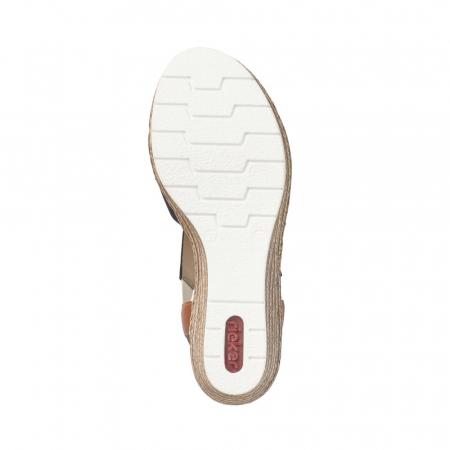 Sandale dama elegante, piele naturala, RIK 619S6-14, bleumarin4