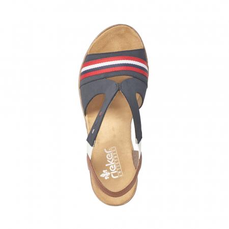 Sandale dama elegante, piele naturala, RIK 619S6-14, bleumarin1