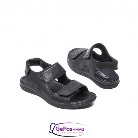 Sandale de barbat, piele naturala, IC702730 Negru2