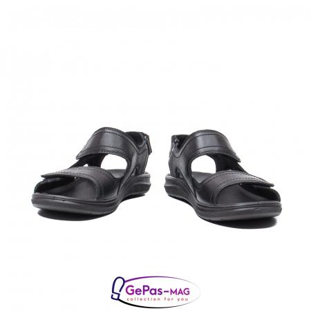 Sandale de barbat, piele naturala, IC702730 Negru4