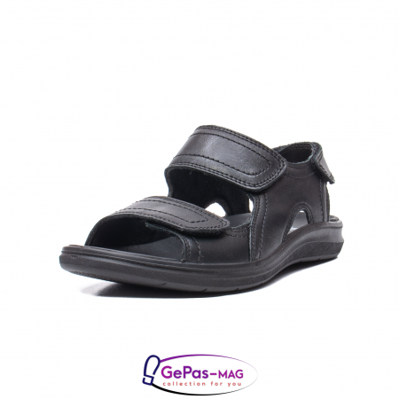 Sandale de barbat, piele naturala, IC702730 Negru0
