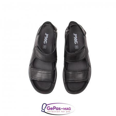 Sandale de barbat, piele naturala, IC702730 Negru5