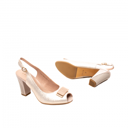 Sandale dama elegante, piele naturala, EP Y074T3