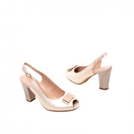 Sandale dama elegante, piele naturala, EP Y074T2
