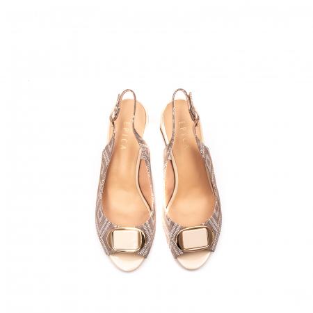 Sandale dama elegante, piele naturala, EP HM1F1204, nude5