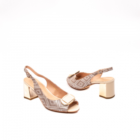 Sandale dama elegante, piele naturala, EP HM1F1204, nude2