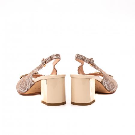Sandale dama elegante, piele naturala, EP HM1F1204, nude6