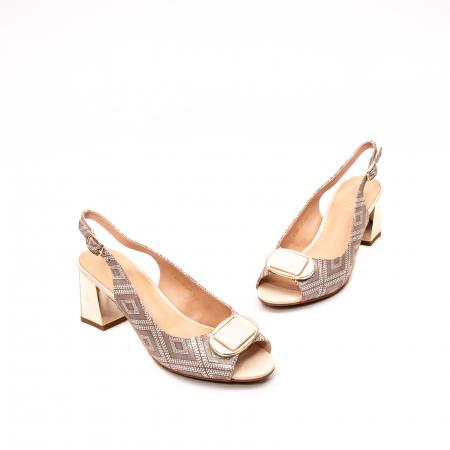 Sandale dama elegante, piele naturala, EP HM1F1204, nude1