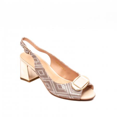 Sandale dama elegante, piele naturala, EP HM1F1204, nude0