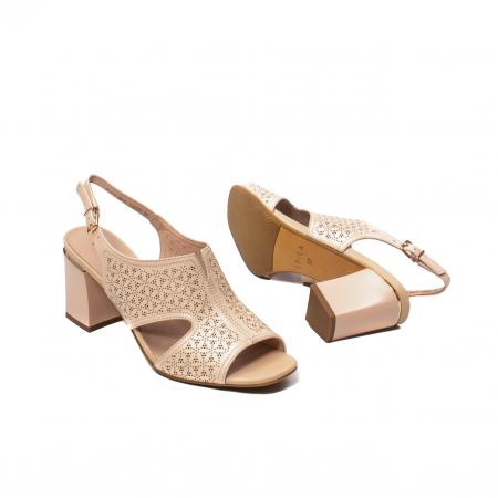 Sandale elegante dama, piele naturala, JIXL493 [3]