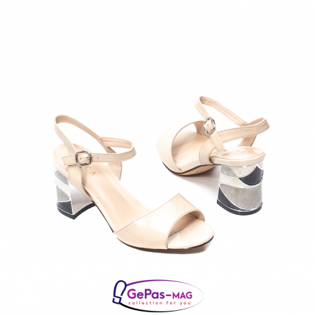 Sandale elegante dama, piele naturala naplac, B218J426-6312 [2]