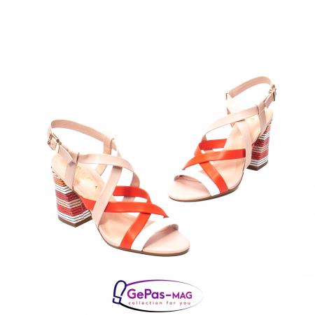 Sandale elegante dama, piele naturala, OE10012 nude/corai [1]