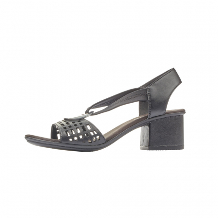 Sandale dama elegante, piele naturala, RIK 64675-005
