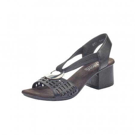 Sandale dama elegante, piele naturala, RIK 64675-000