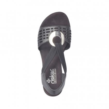 Sandale dama elegante, piele naturala, RIK 64675-001