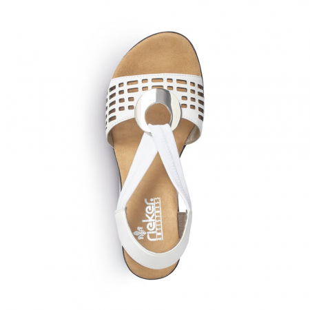 Sandale dama elegante, piele naturala, RIK 64675-804
