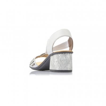 Sandale dama elegante, piele naturala, RIK 64675-805