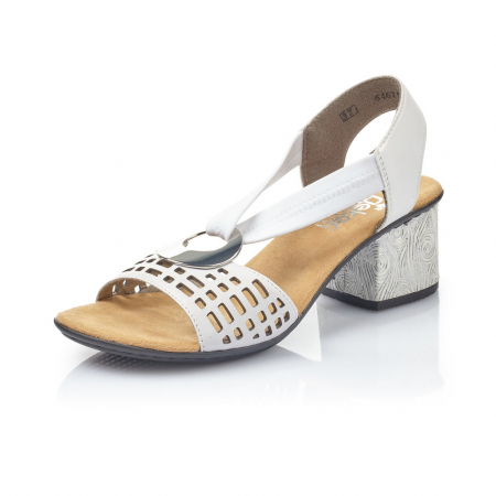Sandale dama elegante, piele naturala, RIK 64675-800