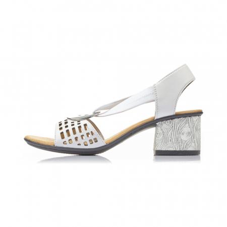 Sandale dama elegante, piele naturala, RIK 64675-802