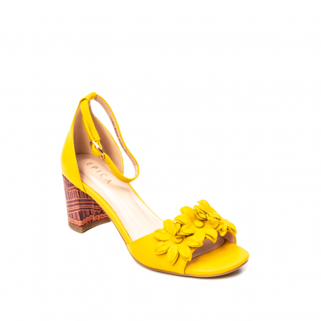 Sandale dama elegante, piele naturala, Y137T0