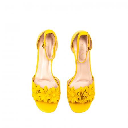 Sandale dama elegante, piele naturala, Y137T5