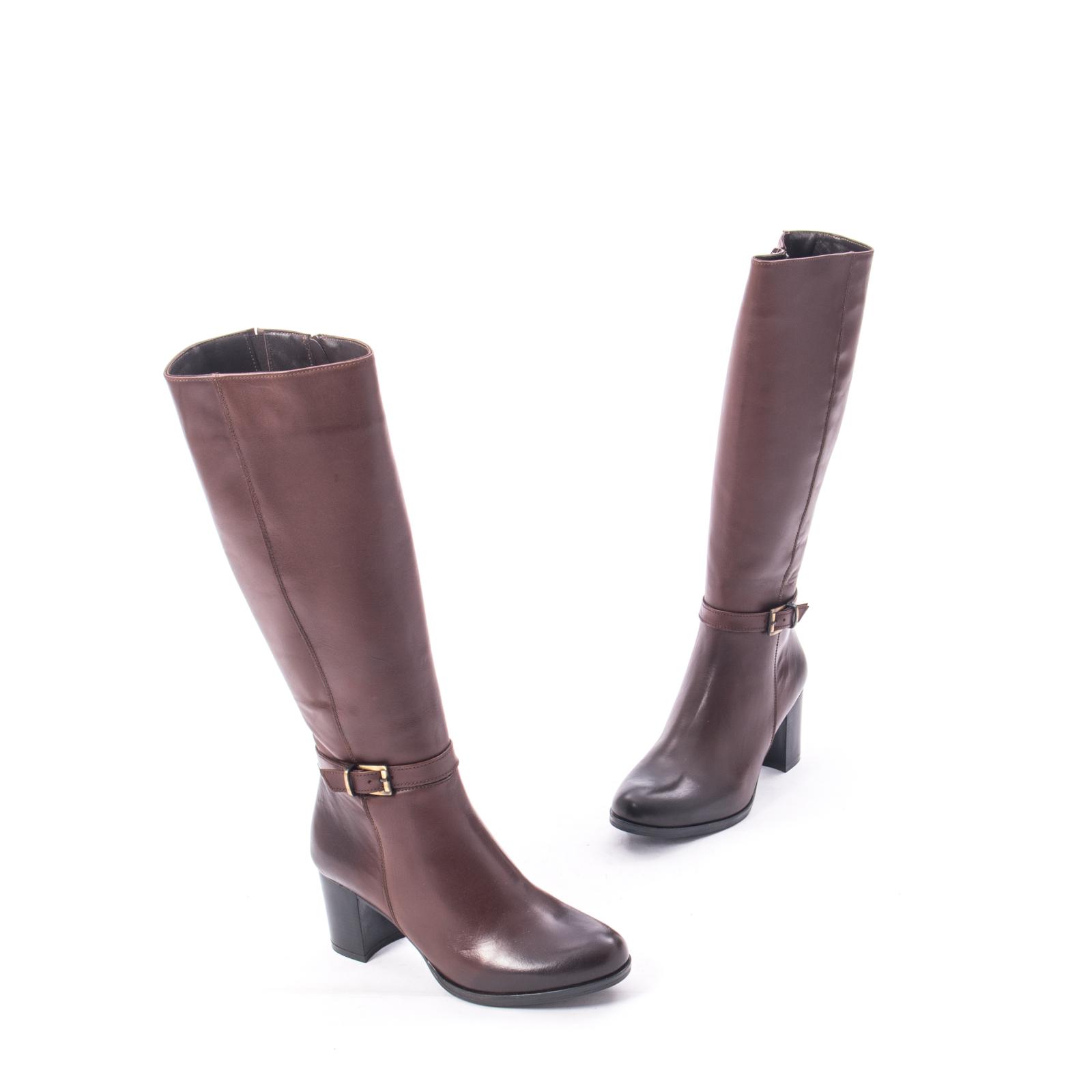 ceas Pantofi 2018 ofera reduceri Cizme dama elegante piele naturala Catali 182880, maro - Catali