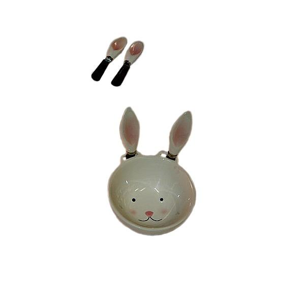 Bol Rabbit cu 2 cutite 0