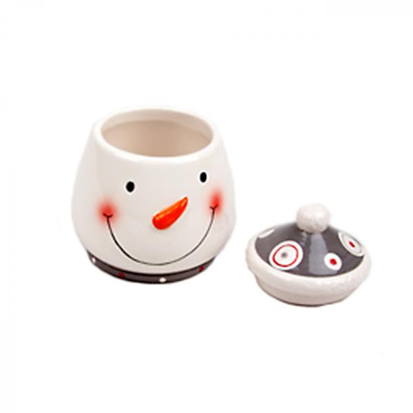 Borcan ceramic cu capac Snowman Carrot 0