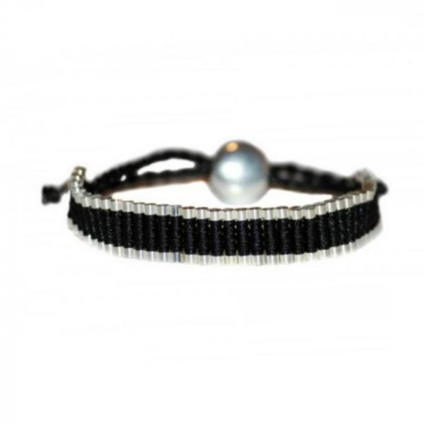 Bratara Black & Silver 0