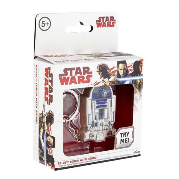 Breloc cu functii lanterna si sunet R2 D2 2
