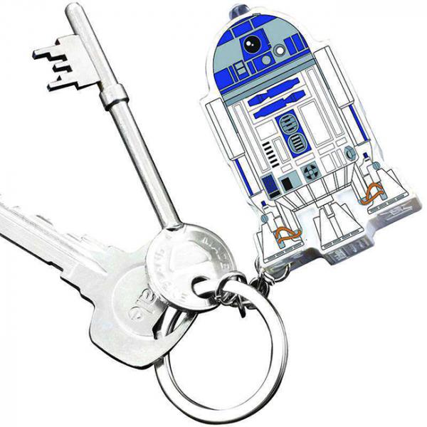 Breloc cu functii lanterna si sunet R2 D2 1