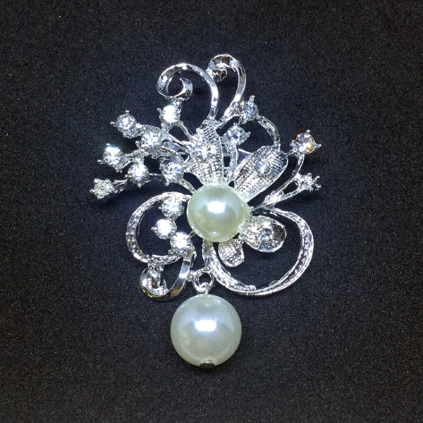 Brosa Flower&Pearls 0