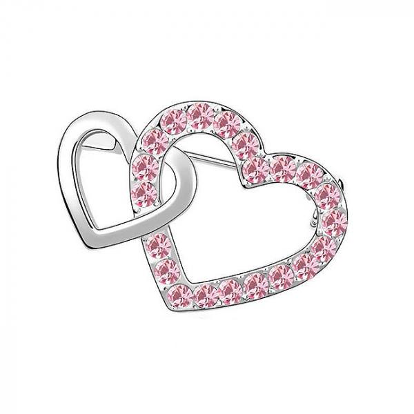 Brosa Hearts Pink 0