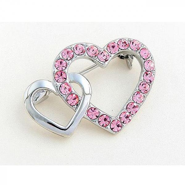 Brosa Hearts Pink 2