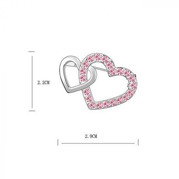 Brosa Hearts Pink 1