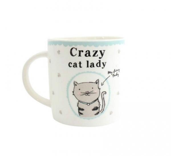 Cana ceramica crazy cat lady 0