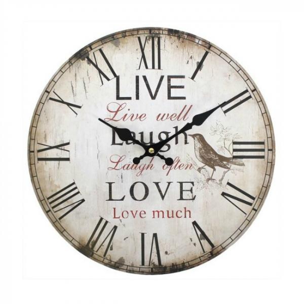 Ceas perete Live, laugh, love [0]