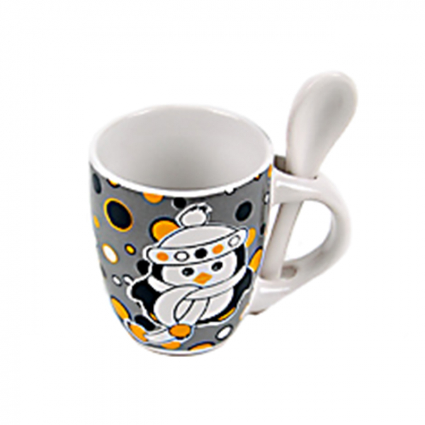 Ceasca cu lingurita Pinguin [0]