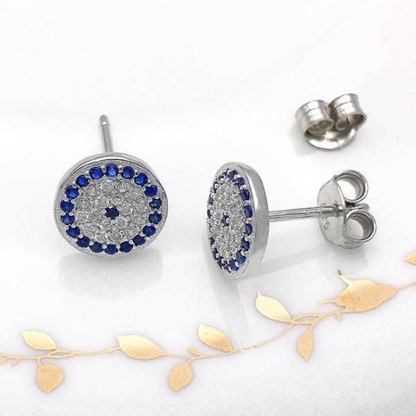 Cercei argint rodiat Blue 2