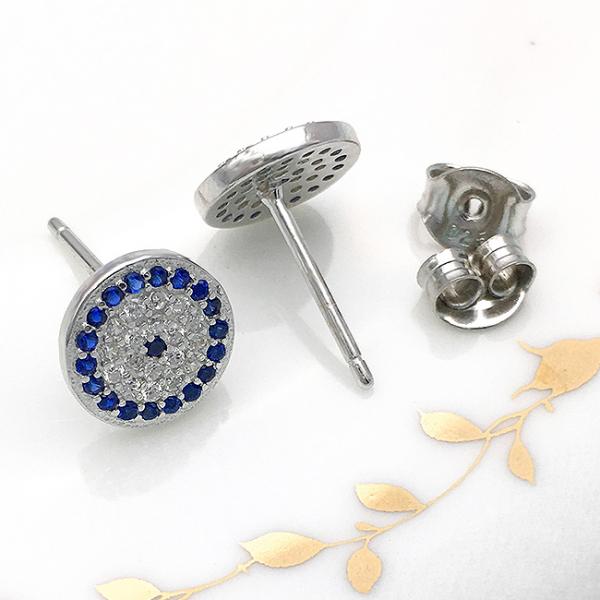 Cercei argint rodiat Blue 3