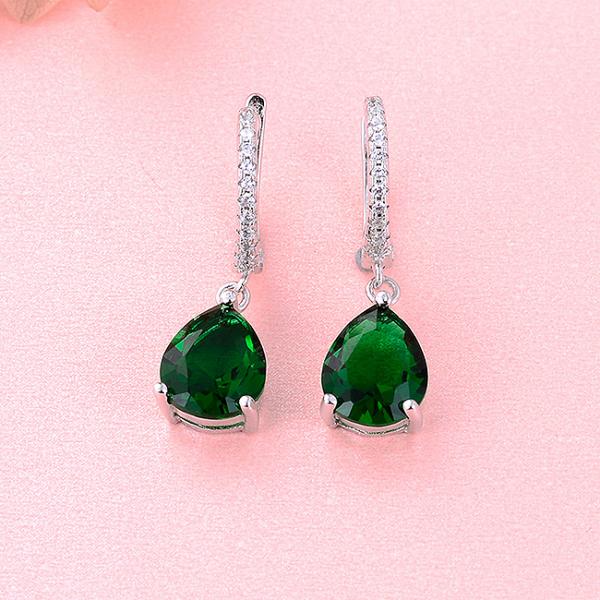 Cercei argint rodiat Green [1]