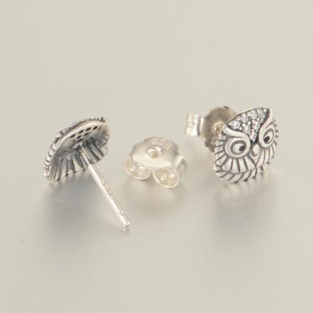 Cercei Bufnita argint 1