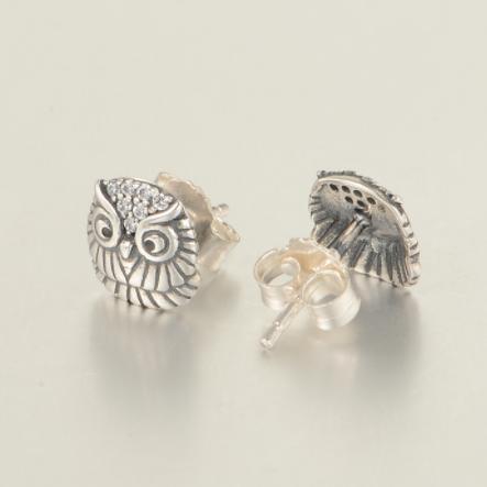 Cercei Bufnita argint 2