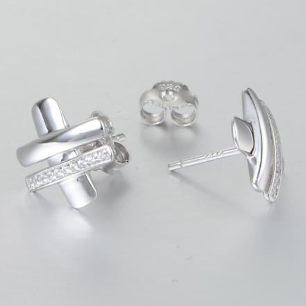 Cercei Cubic Zirconia argint 1