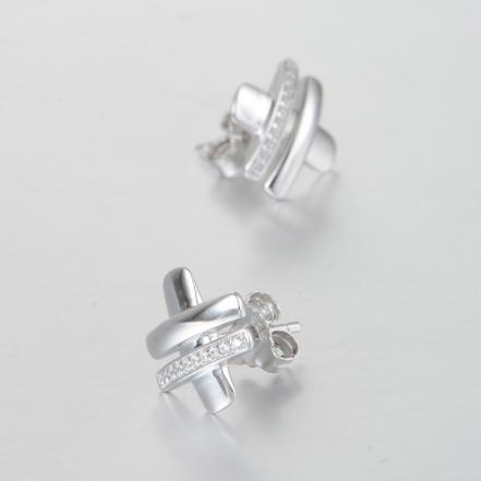 Cercei Cubic Zirconia argint 3